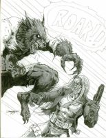 Hilt vs a Lycan by -vassago-