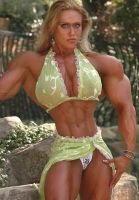 hourglassy female bodybuilder by cribinbic