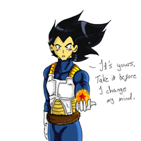 It's yours - Vegeta by Nei-Ning