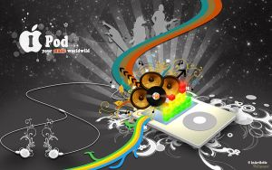 Ipod music worldwild by Crocy