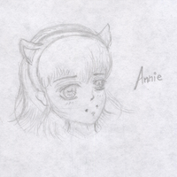 Quick sketch - Annie by a-crixxd
