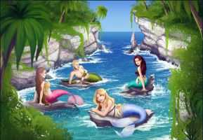 Mermaids of Nemaris Island by madam-marla