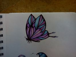 color butterfly tattoo by Samaelt666