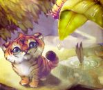 The Tiger and the Caterpillar by fightingfailure