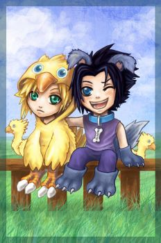 Zack Puppy and Cloud Choco by Loreen