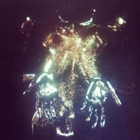 Human Glowy Magic Galaxy Disco Ball by Contrapposto