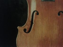 Front View of Violin by DemonRed6