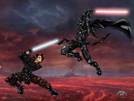 The new anakin versus vader by azzh316