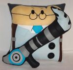 Handmade Team Fortress 2 BLU Medic v1.43 Pillow by RbitencourtUSA