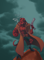 HellBoy by StevenRayBrown