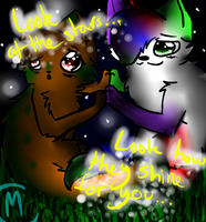 Look at the stars...Look how they shine for you... by misothekitty