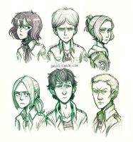 Shingeki no Teens by airefee