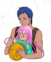 Aomine and Momoi by ShaniNeko