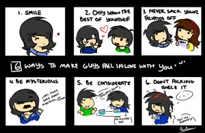 6 ways to make guys fall in love with you. by LifeStorme