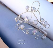 Bridal wire wrapped upper arm bracelet by IanirasArtifacts