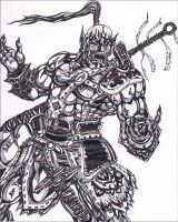 Wraith Maul the Orc Blacksmith by simplykit19