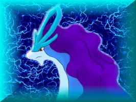 Suicune - portrait by TheLegendaryThree