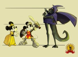 Minnie, Mickey, and Butiki by azimuth-oakes