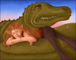The Dinosaur and the Elf by Seyreene