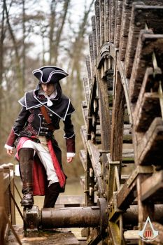 Assassin's Creed 3 - William and the watermill by x-nightfire-x