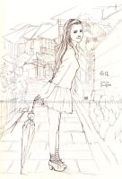 After the rain-sketch by moyan
