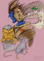 Ratrap and DinoBot by Sola-Alona