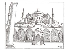 A beautiful mosque in Istanbul by megalobo
