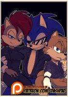 Anti-Mobius Sonic and Co by SkyPirateDash