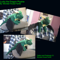 Lucky the Dragon Plushie by Monster-House-Fan92