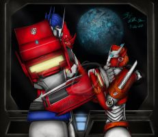 Optimus and Causeway - Cybertron Revived by LadyElita-Arts