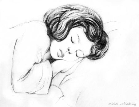 sleeping girl by Mihael123