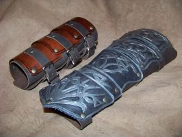 assassins creed both vambraces by MerrillsLeather