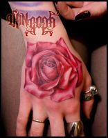 rose hand by vangoghtattoo