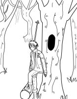 Lonely Lavi outline by superjacqui