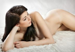 Nude on white by joepix