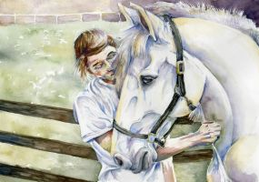 Girl and Her Horse by Cailey5586