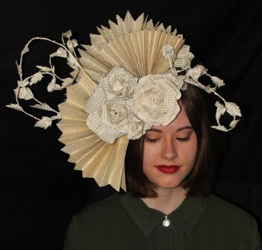 Diana Book Sculpture Headpiece by wetcanvas