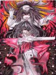 Alucard and Girlycard. by cerezosdecamus