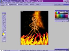 My Real Secret to My Flame CG by fire-doused