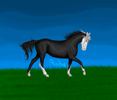 Trotting Horse Pixel by WhimsicalRuby