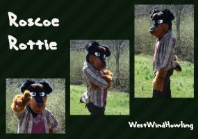 Roscoe Rottie by WestWindHowling