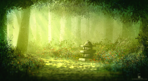 Shrine In The Forest by Aeflus