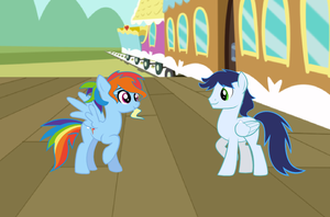 Rainbow Dash X Soarin by selecteddash