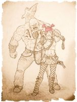 Road Pig and Zarana by Wry1