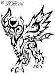 Tribal Mega Absol by blackbutterfly006