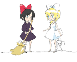 namine and xion are witches by QueenUni