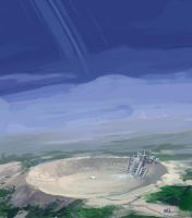 Crater Spaceport by MK01