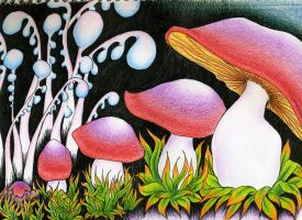 CP Ink Mushrooms by KCJoker33