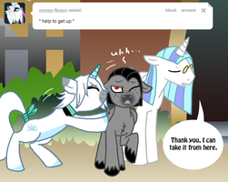 Ask Valier, Helping Hoof by The-Clockwork-Crow