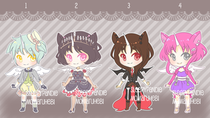 Unihorn Kemonomimi Adopts: Collab Auction [CLOSED] by sleepypandie